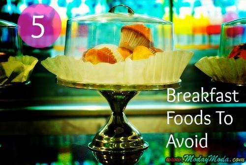 5 Alimentos de desayuno que nunca deben Coma