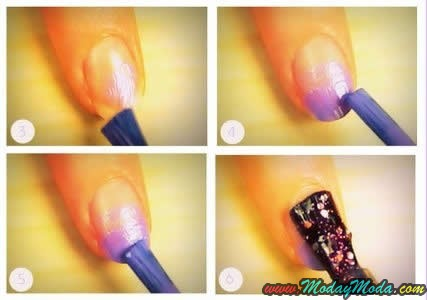 Uñas de gel espumosa Tutorial