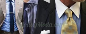 camisas lineas azules rayas traje