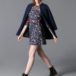 catalogo stradivarius mujer 2015 vestido flores cinturon
