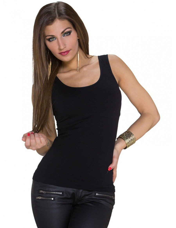 blusa negra pegadita tirantes gruesos