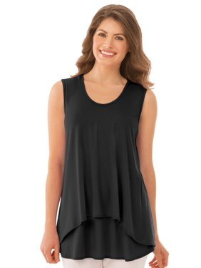 blusa negra tirantes gruesos señora